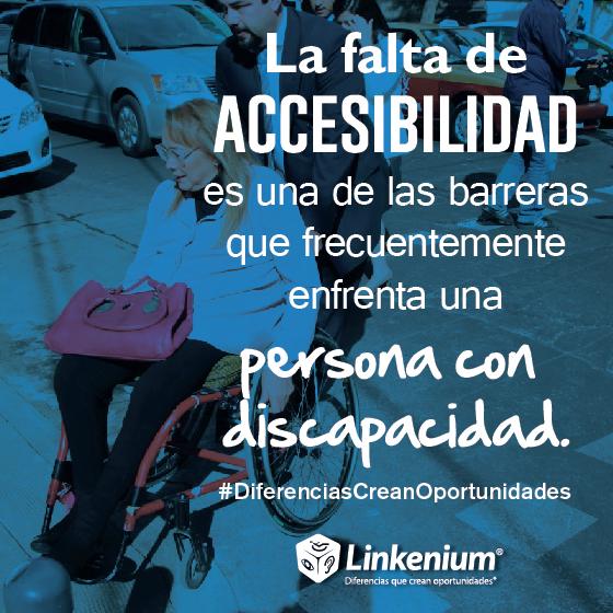 La falta de accesibilidad es una de las barreras que frecuentemente encuentra una persona con discapacidad
